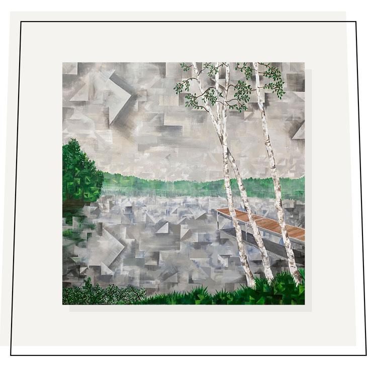 Misty Mornings: Dockside---Shaina-Hardie-Art---36x36---2020
